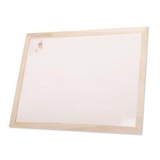 לוח לבן מחיק מסגרת עץ