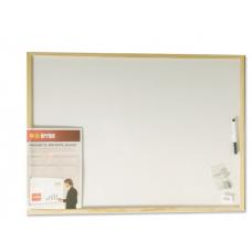 לוח לבן מחיק מגנטי מסגרת עץ