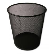 פח אשפה משרדי רשת מתכת שחור